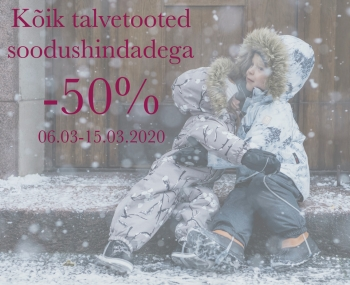 VEEL TALVERIIDEID JA JALANÕUSID NÜÜD -50%!