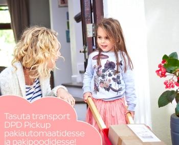 TASUTA transport DPD Pickup pakiautomaati või pakipoodi!