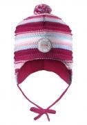 Reima talvemüts KUMPU, roosa/triibuline